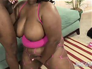 dark-hued porker Daphne Daniels gets intensely plumbed