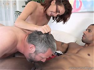 Ashley Graham and husband enjoy hefty ebony man-meat