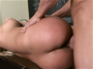 blondie Shyla Stylez is anxious for a flow of cum after a boning