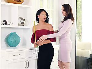 youthful humble Latina Gina Valentina and her stepmother