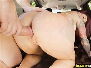 Monique Alexander blows a humungous rod in the car