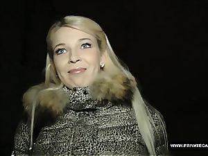 Czech blond got creamed after a excellent audition penetrate