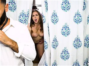 Behind the douche curtain with Lena Paul