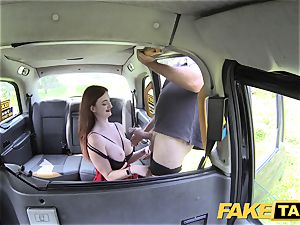 fake cab Olive flesh redhead in lingerie