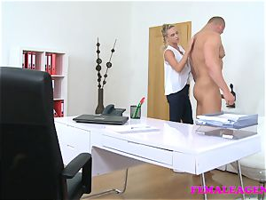 FemaleAgent fellow pleases agents stiffy eagerness