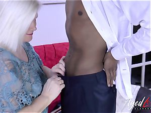AgedLovE Lacey Starr and black dude hardcore