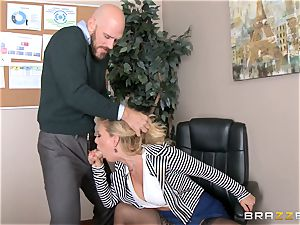 cougar boss Cherie Deville gets shafted by a massive dicked employee
