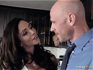 Nicolette Shea and Ariella Ferrera rivaling for Johnny Sins pipe