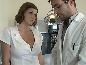 super-steamy nurse Sara Stone takes care of her favourite physician