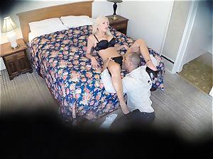 wild Nina Elle fucks her man at the hotel