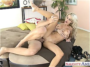 jaw-dropping Sarah Jessie smooched and nailed decently