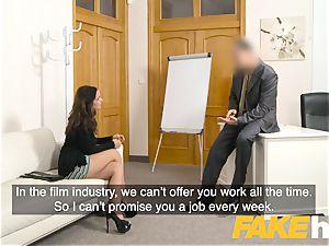 fake Agent cum lovinТ inked Spanish babe