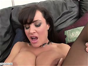 interracial pornography with mature bombshell Lisa Ann with giant baps