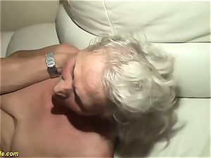 75 years elderly grandma first-ever porn video