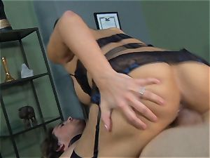 Mercedes Carrera gets an employees chisel deep inwards her