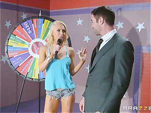 Game showcase jizz-shotgun boning with platinum-blonde sweetheart Alix Lynx