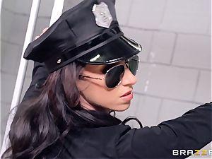 prison 3 way with stellar cops Anikka Albrite and Jada Stevens
