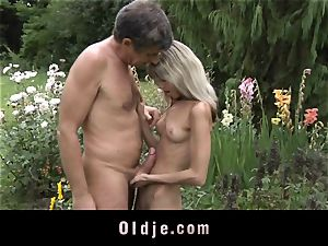 Gina Gerson gets anal from an senior dude
