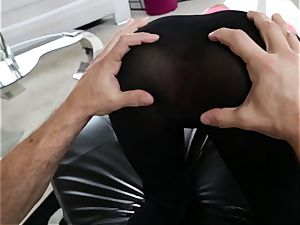 August Ames ravaged through her yoga pants
