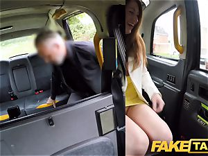 fake taxi horny red-haired beauty in sloppy plumb