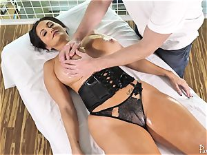 ginormous bum chesty milf Ava Addams gets her well-lubed pussy romped