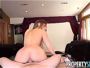 Summer Brooks displays the landlord how much she wants the house