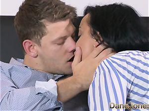 Dane Jones wild ebony haired Russian has internal cumshot
