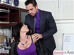 kinky Kendra enthusiasm works her way up the corporate ladder