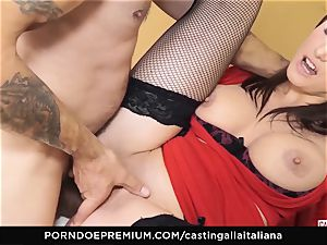 audition ALLA ITALIANA - big-titted dark-haired likes raw buttfuck