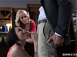 Simone Sonay screws the professor with student pursue Ryder