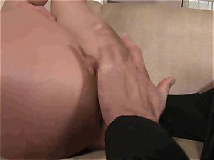 Kathia Nobili gets an assful of pipe