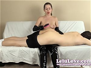 female dominance spanking his donk with my hairbrush forearms..