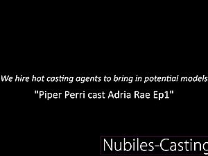 Piper Perri casts very first time gonzo for lil' teenager