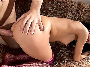 Sasha Rose gets her nice round rump destroyed