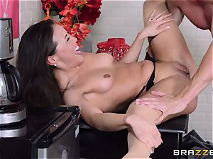 Kalina Ryu ravaged by her boss as she talks to her boyfriend