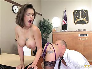 offender busty wife has dirty hookup with the prosecutor in the courtroom
