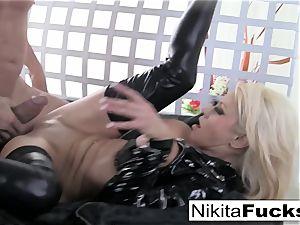 huge-titted Nikita bangs a giant pink cigar
