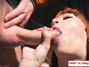 first Class point of view - Alexa Nova blowing a meaty fuck-stick in pov