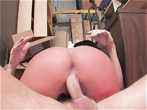 big-titted biotch Kerry Louise gets slammed stiff and earns a enormous stream of sizzling spunk