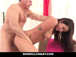 SheWillCheat cheating gf Karlee Grey bangs Trainer