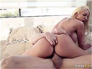 big-titted cowgirl rides a fabulous stallion