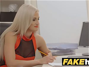 gal Agent cum hungry wild agent gets poked