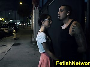 FetishNetwork Joseline Kelly public bondage & discipline