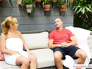 Sean Lawless finds hot milf naked in the garden