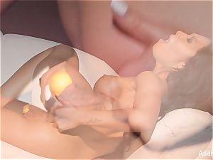 Asa Akira steaming 2 toy dp