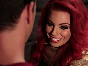 Britney Amber deepthroats off a ultra-kinky superhero