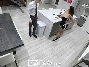 SpyFam Step mom Ava Addams porks step son