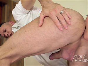 GIRLSRIMMING - Before The soiree anal invasion three-way