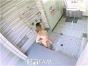 SpyFam Step brutha spies on step sis Ashley Adams