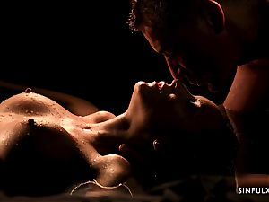 sensual massage turns into a sensual drill